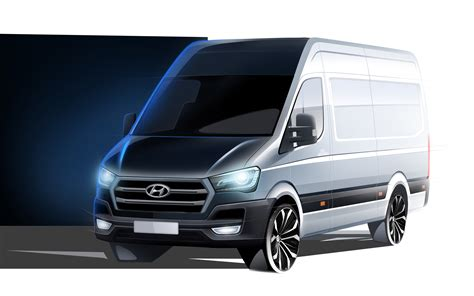 van hyundai hyundai teases new h350 cargo van for europe
