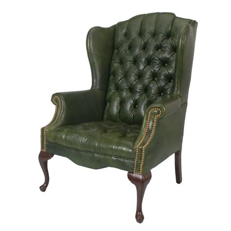 green leather and chair furniture design history why do wingback chairs