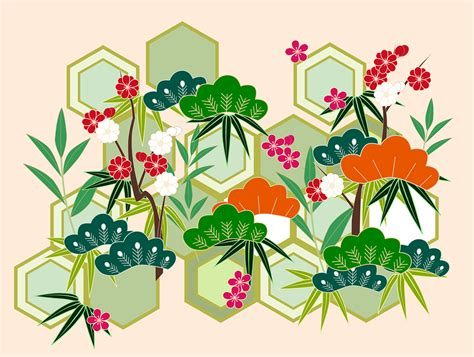 new year flower png 無償のベクターグラフィック 新年 正月 松竹梅 縁起 和柄 伝統的 日本 和風 pixabayの