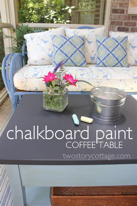 Chalkboard Coffee Table Two Story Cottage Chalkboard Coffee Table