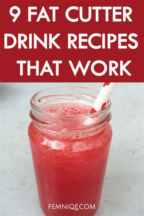 a weight loss drink 9 cutter drink recipes for weight loss femniqe