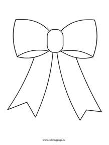 bow coloring pages bow coloring page