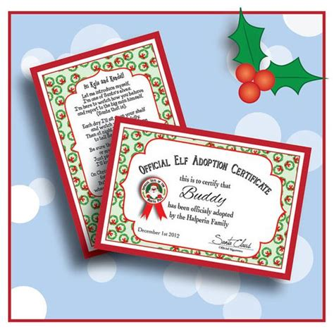 Adopt A On The Shelf by Digital Personalized Welcome Letter Poem And