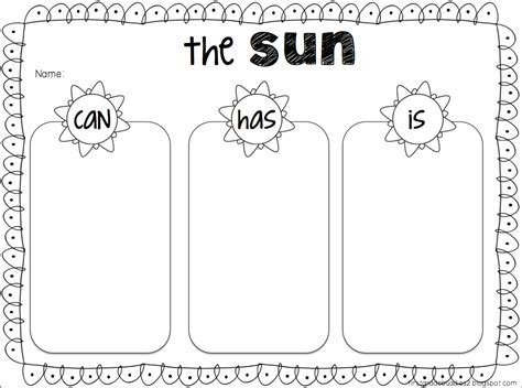 Activities Graphic 1 the sun fact organizer freebie great activity before