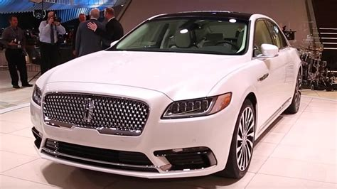Continental Auto by 2017 Lincoln Continental 2016 Detroit Auto Show Youtube