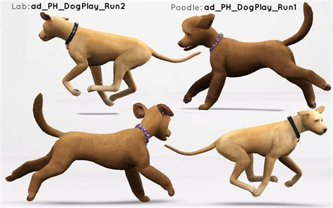 puppy pose mod the sims play poses for large and small dogs