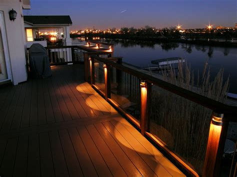 Patio Floor Lighting Different Types Of Deck Lighting To Decorate Your Home Carehomedecor