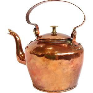 antique copper tea kettle 19th c from antiquesofriveroaks on ruby lane