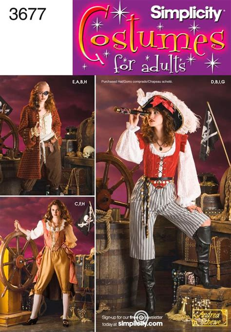 pirate costume patterns on pinterest womens pirate costume sewing pattern 3677 simplicity some