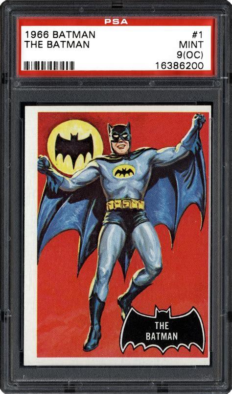 batman cards 1966 topps batman black bat non sports cards psa smr