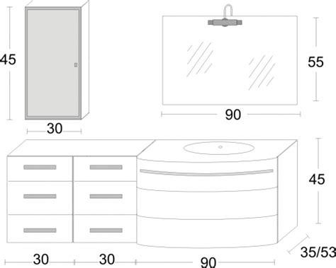 mobile bagno misure arredo bagno mobile con lavabo in cristallo
