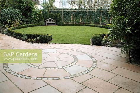 indian patio design gap gardens circular patio design in indian sandstone