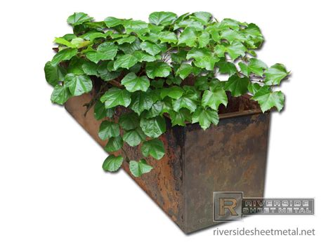 Copper Flower Planter by Burnished Copper Planter In Fabrication