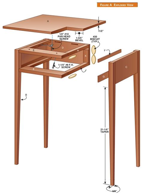 shaker table woodworking plans shaker furniture