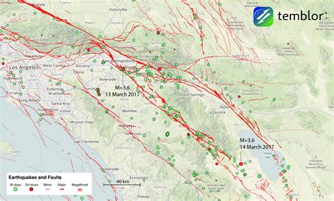 california quake map earthquake map images
