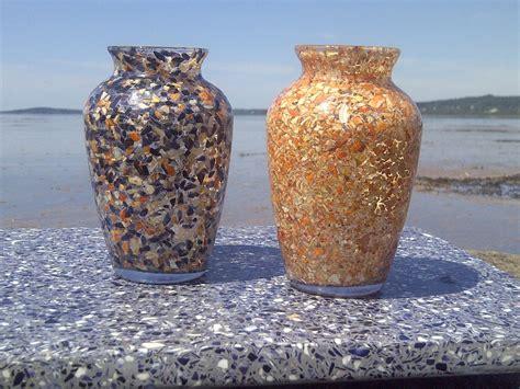 Seashell Vases by Vases Ls Maine Coast Creations