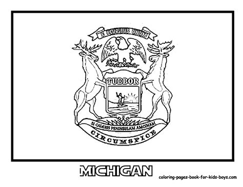michigan colors michigan state flag coloring page az coloring pages