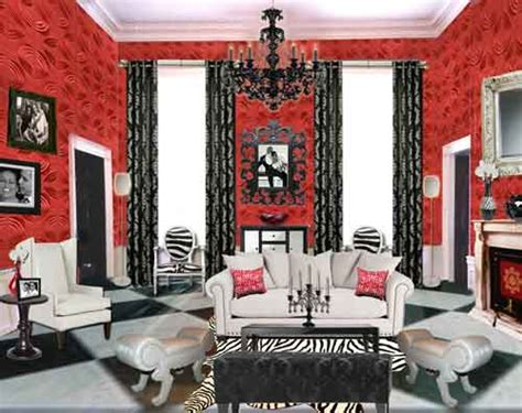 iconic red room sensational color
