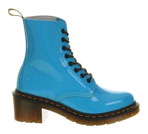Dr Martens 8 Leather lyst dr martens 8 eyelet heel boot blue leather