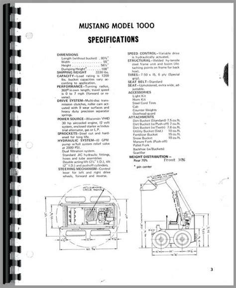 Owatonna 1000 Skid Steer Loader Operators Manual