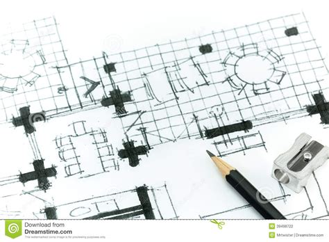 drawing floor plans by hand hand drawing plan stock illustration image 39498722