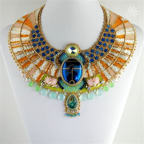 beautiful egyptian themed collar necklaces alldaychic