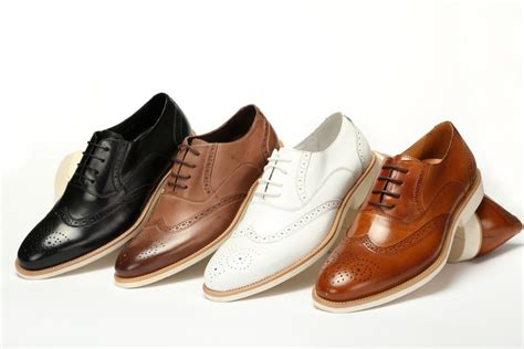 Brown And White Mens Dress Shoes images
