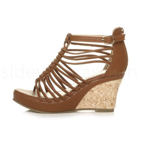 wedge heel gladiator sandals womens high heel wedge gladiator t bar strappy