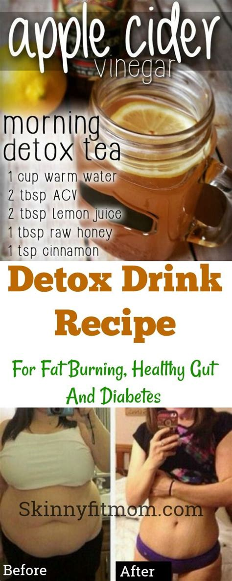 Detox Gut Drink Recipe by Apple Cider Vinegar Detox Drink Recipe For Burning