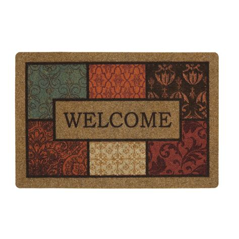 Inside Welcome Mat Mohawk Indoor Welcome Mat Brown Multicolor