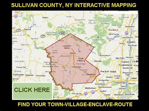 Sullivan County Ny Property Records Sullivan County New York Area Maps