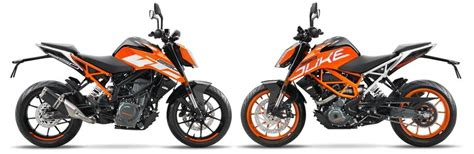 Ktm Comparison Duke 250 Vs Duke 390 2017 Comparison Review