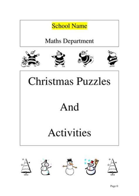 printable christmas quiz for ks2 maths christmas activities booklet by ryansmailes