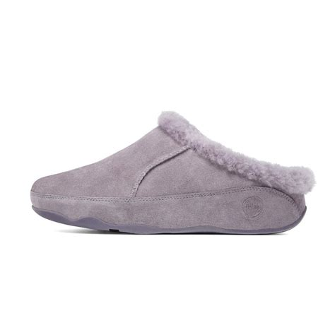 fitflops slippers fitflop lounge deluxe in moonshadow lilac from mozimo