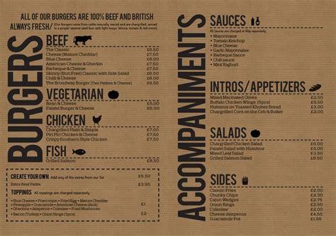design menu burger 17 best images about design menus on pinterest