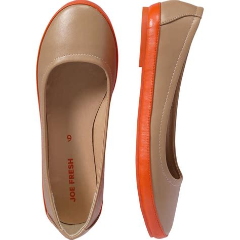Flats Two Tone two tone ballet flats in from joe fresh
