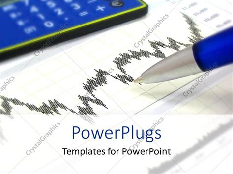 powerpoint template financial chart with pen calculator