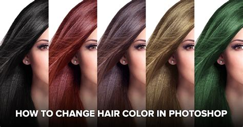 color hair changer how to change hair color in photoshop including black