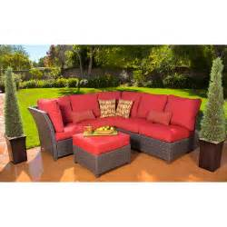 Patio Furniture Sectional Sets Rushreed 3 Outdoor Sectional Sofa Set Walmart