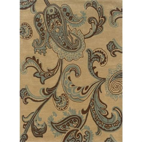 Brown And Aqua Area Rugs Linon Rugs Trio Rectangular Area Rug In Brown And Turquoise Ebay