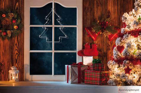 Fensterdeko Weihnachten Beleuchtet by Led Fensterbild Tannenbaum Weihnachten Fensterdeko