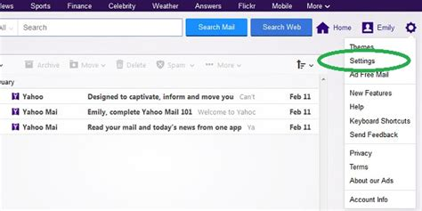 email yahoo settings i am not receiving a particular companies email that it