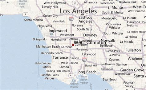 compton map guide urbain de west compton