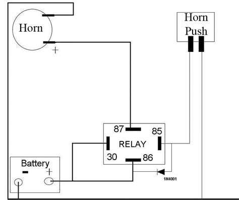 horn relay wiring diagram car horn installation