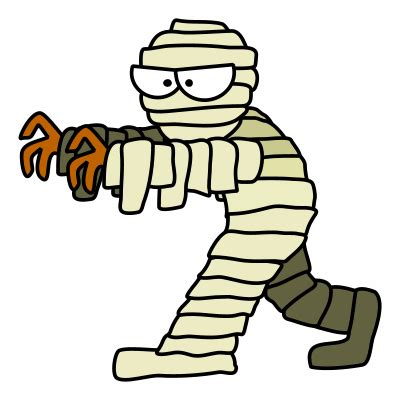 drawing a cartoon mummy