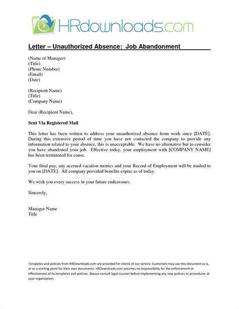 Cancellation Letter Vacancy abandonment letter template letter template 2017