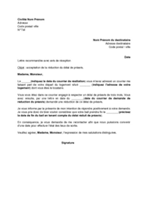 Exemple Lettre De Preavis Zone Tendu Modele De Lettre De Preavis