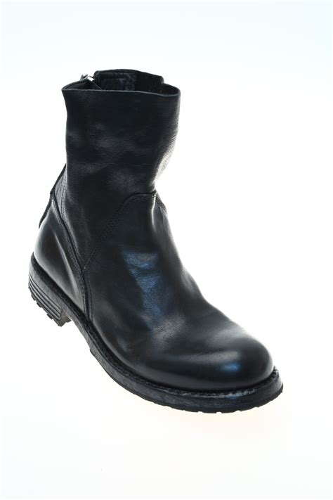 leather black ankle boot moma