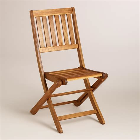 folding chairs wood wood cameron folding chairs set of 2 world market