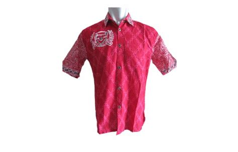 Baju Baru Arsenal baju batik cap bola arsenal toko batik jogja